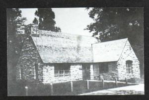 IA Rock Shelter House CLARKSVILLE IOWA Postcard PC