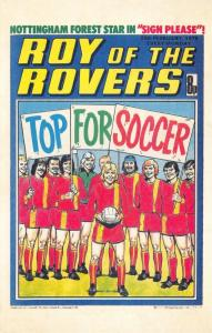 Postcard Roy of The Rovers Melchester Roy Race Comic Strip Cover from 1978
