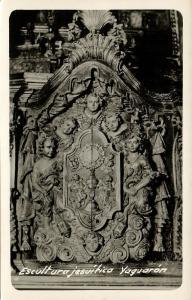 paraguay, YAGUARÓN, Escultura Jesuítica (1940s) RPPC