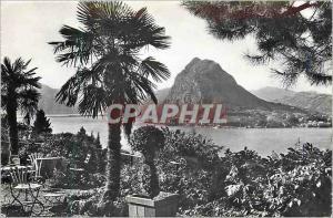 Modern Postcard Lugano Monte S Salvatore
