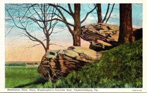 Virginia Fredericksburg Meditation Rock Mary Washington's Favorite Spot ...