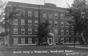Winfield Kansas~St Mary's Hospital~Home for Summer~Sister M deSales~1940 RPPC