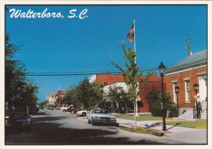 WALTERSBORO, South Carolina; Main Street looking West, Old Post Office, 50-70s