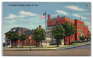 Mid-1900s St. Joseph's Hospital, Minot, ND Postcard