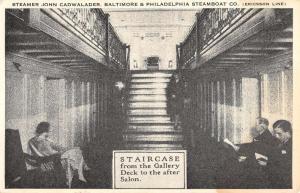 Baltimore Philadelphia Boat Steamer Cadwalader Staircase Postcard K78602