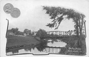 The Iron Bridge at Petitcodiac  New Brunswick 5 Cent Coin Postcard