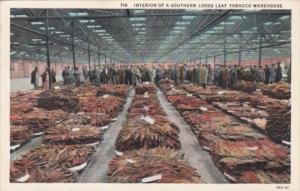 Interior Of A Southern Loose Leaf Tobacco Warehouse Curteich