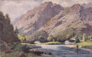 AS: Grange in Borrowdale, Early Morning, Cumbria, England, United Kingdom, A....