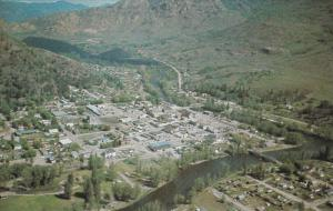 GRAND FORKS, British Columbia, Canada, 1940-1960's; Aerial View