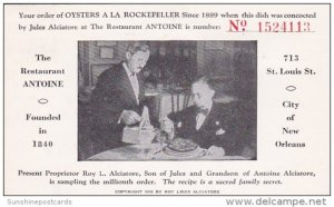 Oysters A La Rockefeller No 1524113 The Restaurant Antoine New Orleans Lousia...
