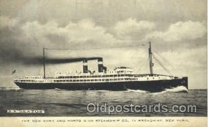 SS Brazos, The New York and Porto Rico Steamship Company Steamer Ship Postcar...