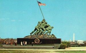 Arlington, Virginia, VA, Iwo Jima Statue, 1955 Chrome Vintage Postcard g8127