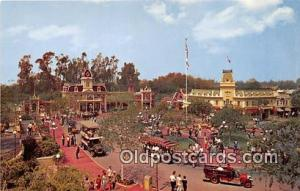 Town Square, Main Street Disneyland, Anaheim, CA, USA Postcard Post Card Disn...