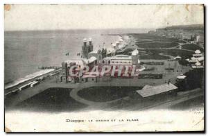 Old Postcard Dieppe Casino And Beach