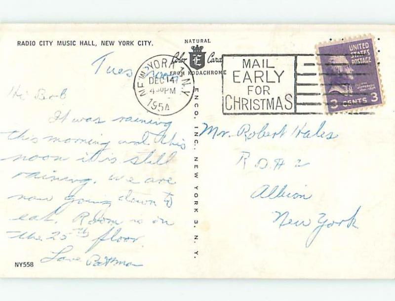 1954 Old Cars & Radio City Music Hall Manhattan New York NY Q3454