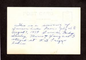 NB Davidson Lake DUMFRIES New Brunswick Carte Postale Real Photo RPPC Postcard
