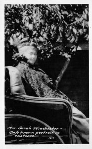 RPPC MRS. SARAH WINCHESTER Mystery House SAN JOSE c1930s Vintage Photo Postcard