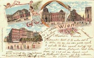 Austria Gruss aus Wien Litho Vienna Litho 05.93