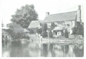 Old Oxford modern repro postcard trout inn river  godstow nunnery
