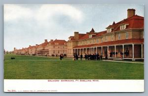 FORT SNELLING MN SOLDIERS' BARRACKS UNDIVIDED ANTIQUE POSTCARD