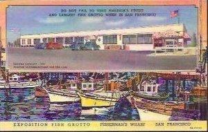 CA San Francisco Exposition Fish Grotto