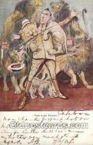 The lion Tamer Military Postcard Postcards  The lion Tamer