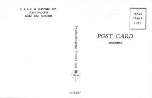 Lenoir City Tennessee aerial view R.J.& C.W. Fletcher Inc antique pc ZE686166