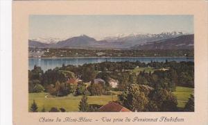 Switzerland Chaine du Mont-Blanc Vue prise du Pensionnat Thudichum