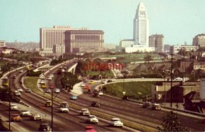HOLLYWOOD FREEWAY LOOKING TOWARDS CIVIC CENTER LOS ANGELES, CA 1950's autos