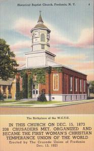 New York Fredonia Historical Baptist Church