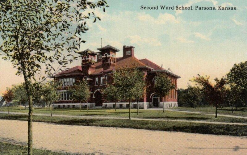 PARSONS, Kansas, 00-10s; Second Ward School