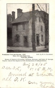 Pennsylvania Easton Parsons-Taylor House 1905