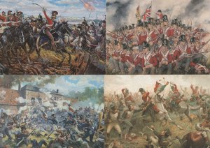 The Charge Of The Life Guards Battle Of Waterloo 4x Painting Postcard s