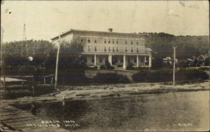 Munising MI Beach Inn c1920 Real Photo Postcard