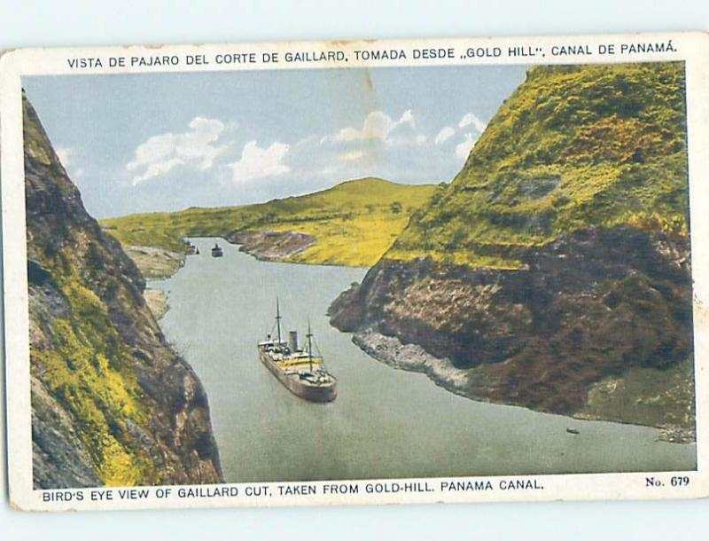 Old Postcard GAILLARD CULEBRA CUT FOR CANAL IN EMPIRE Country Of Panama F5572