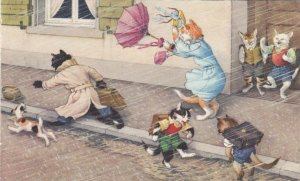 ALFRED MAINZER, 1940-50s; Windy day: Great for kittens, Horrible for Adult Cats