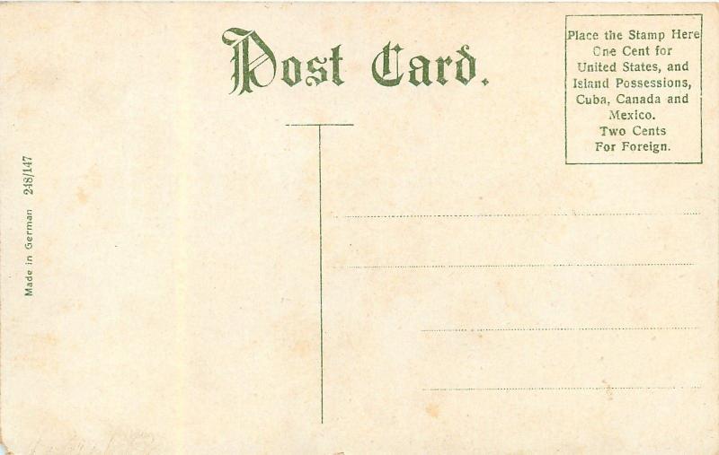 York Pennsylvania~Codorous Creek Swinging Bridge~1910 Postcard