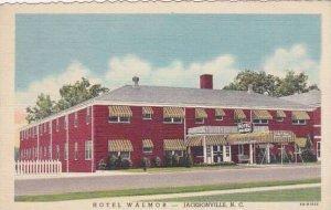 North Carolina Jacksonville Hotel Walmor 1949 Albertype