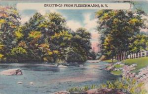 New York Greetings From Fleischmanns 1945