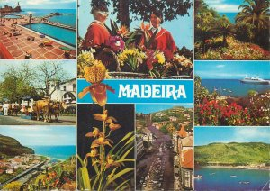 Portugal Postcard Madeira different aspects