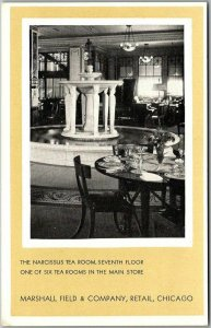 1930s CHICAGO Postcard MARSHALL FIELD & COMPANY Narcissus Tea Room. 7th Floor