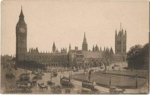 UK London Clock Tower and Houses of Parlament 01.19