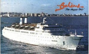 MS Boheme  The Happy Ship Steam Ship Postcard Postcards 1977
