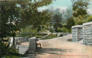 Hot Springs Arkansas~Drive On Hot Springs Mountain~Stone Columns~1910 PC
