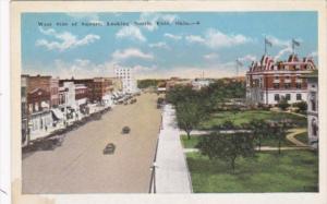 Oklahoma Enid West Side Of Square Street Scene