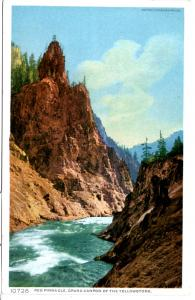 YELLOWSTONE,RED PINNACLE, GRAND CANYON OF THE YELLOWSTONE, DIVIDED BACK