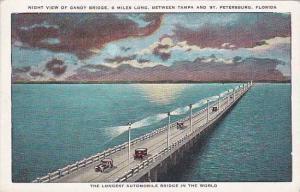 Florida Saint Petersburg Night View Of Gandy Bridge