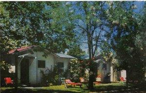 FANNING'S MOTEL Los Gatos, CA Saratoga Ave Roadside ca 1950s Vintage Postcard