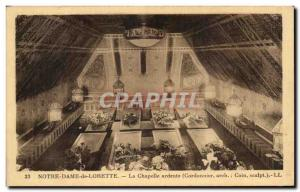 Old Postcard Lady of Loreto Chapel Our Lady Fiery
