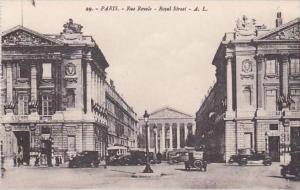 France Paris Rue Royale Royal Street